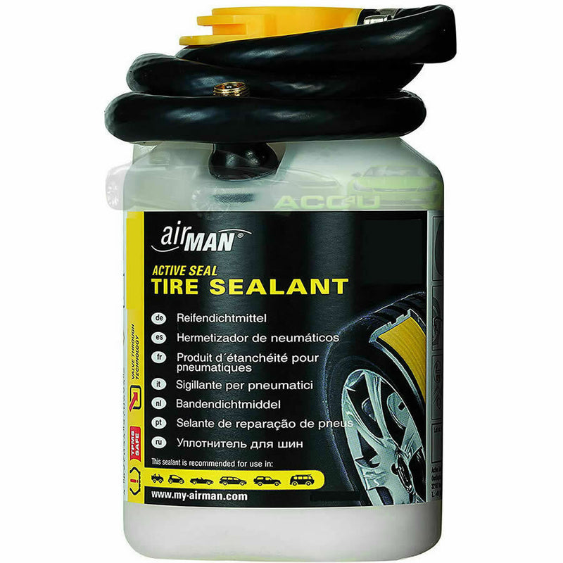 Airman Valve Through OEM Replacement Car Tyre Repair Sealant 450ml Refill Bottle