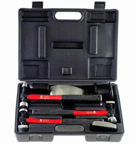 Amtech 7 Piece Auto Car Van Body Panel Dent Repair Beating Hammer Dolly Tool Kit