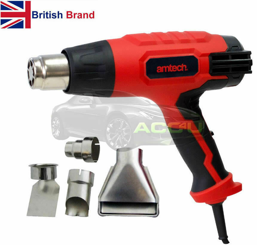 Amtech 2000w Multi Heat Settings Hot Air Heat Gun Paint Varnish Remover Stripper