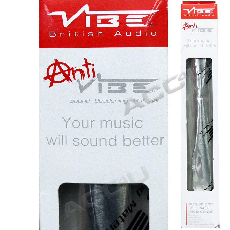 Anti Vibe Car Audio Door Panels Bonnet Sound Deadening Proofing Material Roll Sheet