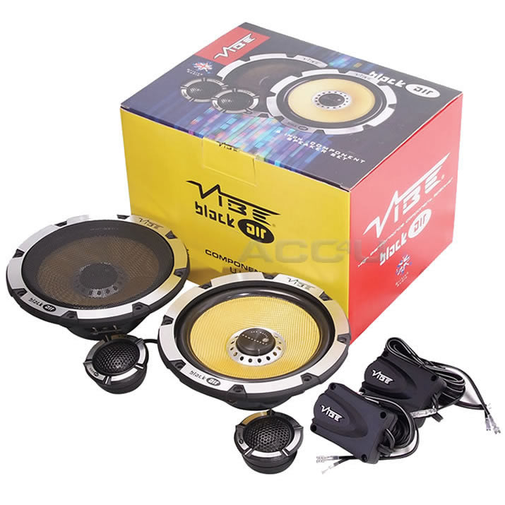 "Vibe Blackair Comp 5 BA5C-V1 5.25"" inch Car Door Component Speakers System Set"