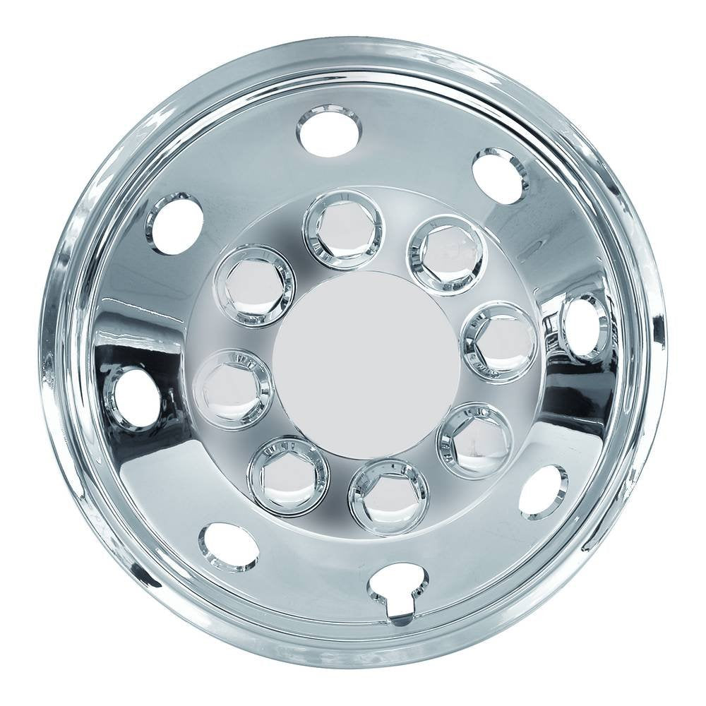 "14"" Van Taxi Chrome Deep Dish Raised Wheel Center Trims Hub Caps Covers Set+Caps+Ties"
