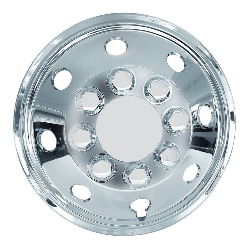 "16"" Van Taxi Chrome Deep Dish Raised Wheel Center Trims Hub Caps Covers Set+Caps+Ties"