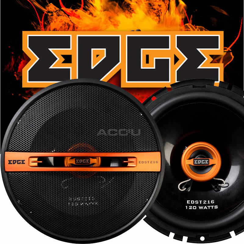 "Edge EDST216-E6 6 6.5"" inch 165mm 240w Car Van Door Coaxial Orange Speakers Set"