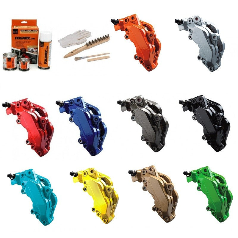 Foliatec White FT2168 Car Bike Engine Brake Caliper High Temperature Paint Lacquer Kit