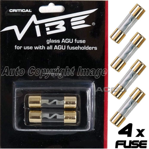 Vibe Audio AGU80 12v 80A Amp Car Glass Fuses For AGU Fuse Holder
