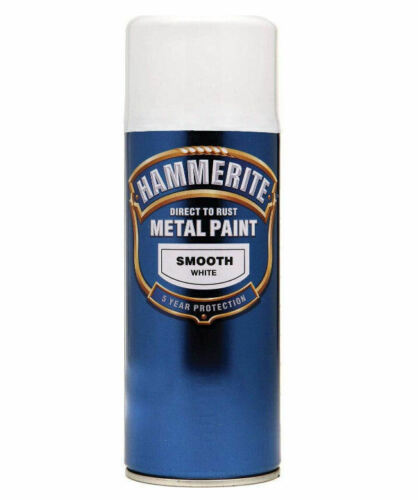 Hammerite Direct To Rust Metal Smooth WHITE Finish AEROSOL SPRAY Paint Can