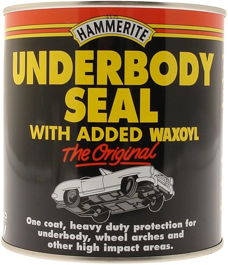 Hammerite Black Underbody Seal BRUSH ON Added Waxoyl Rust Proofing Paint 500ml