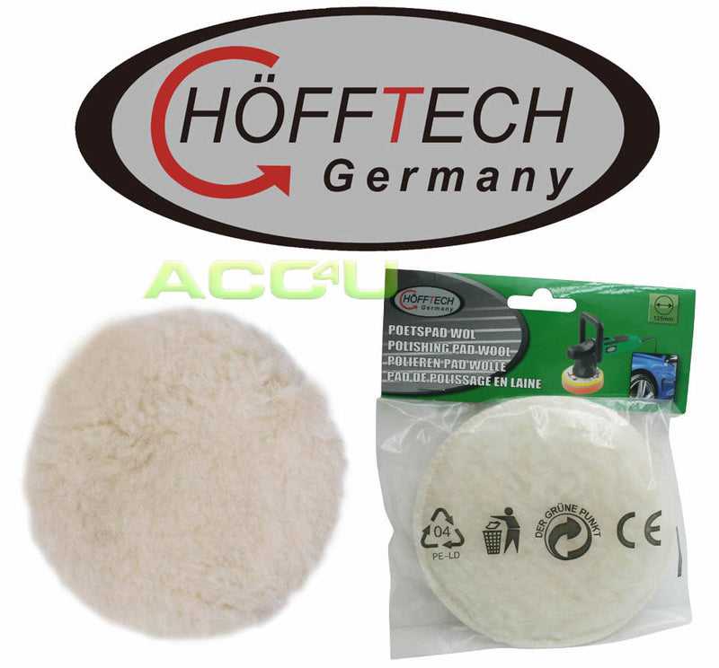 Hofftech Car Dual Action Polisher 125mm REPLACEMENT Wool Polishing Pad