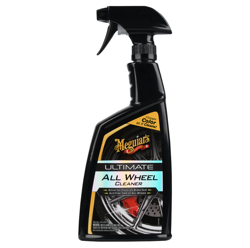 Meguiars Ultimate PH Balanced Car All Alloy Wheel Cleaner+Cloth+Polish Pad