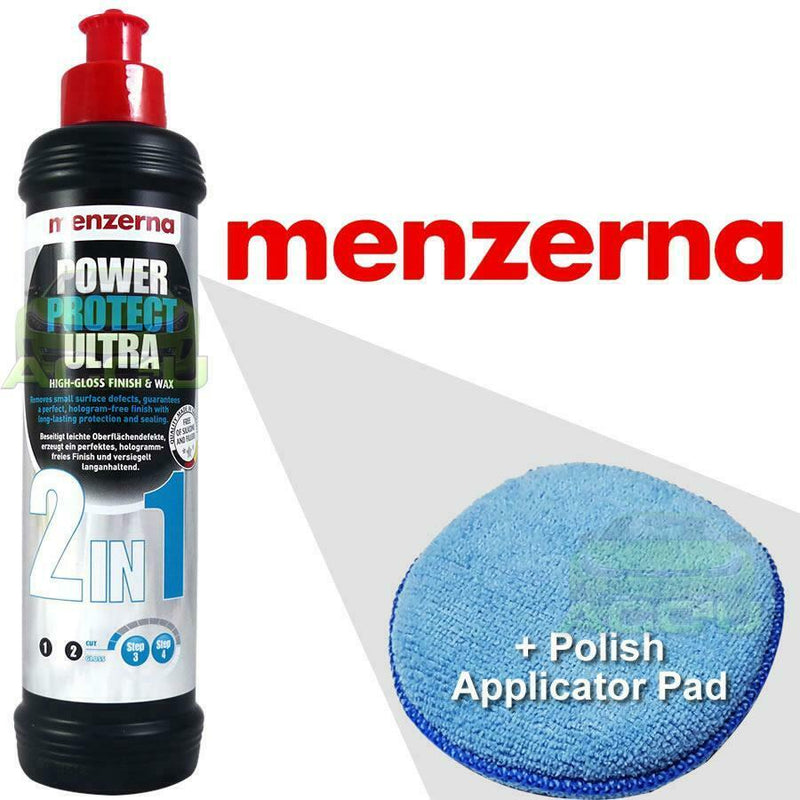 Menzerna Power Protect Ultra 2in1 Car High Gloss Finish & Wax Sealant 250ml+Pad