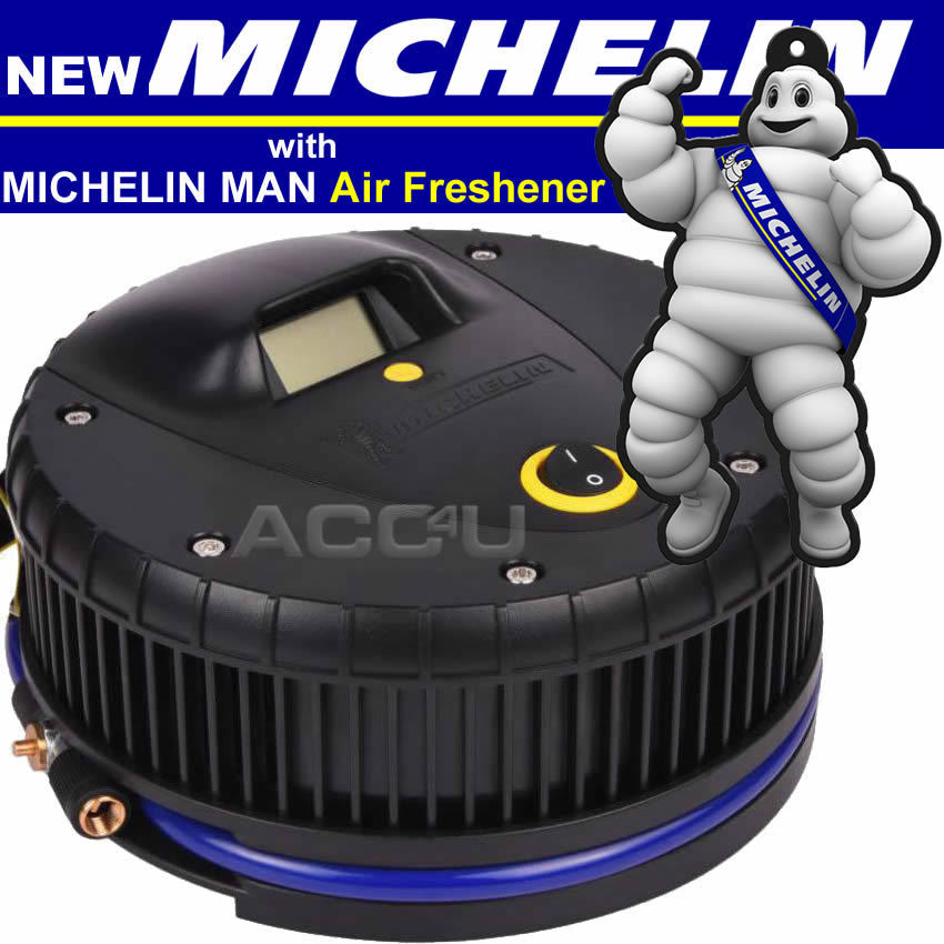 Michelin 12259 12v Car Bike Tyre Air Compressor Inflator Pump With Digital Gauge