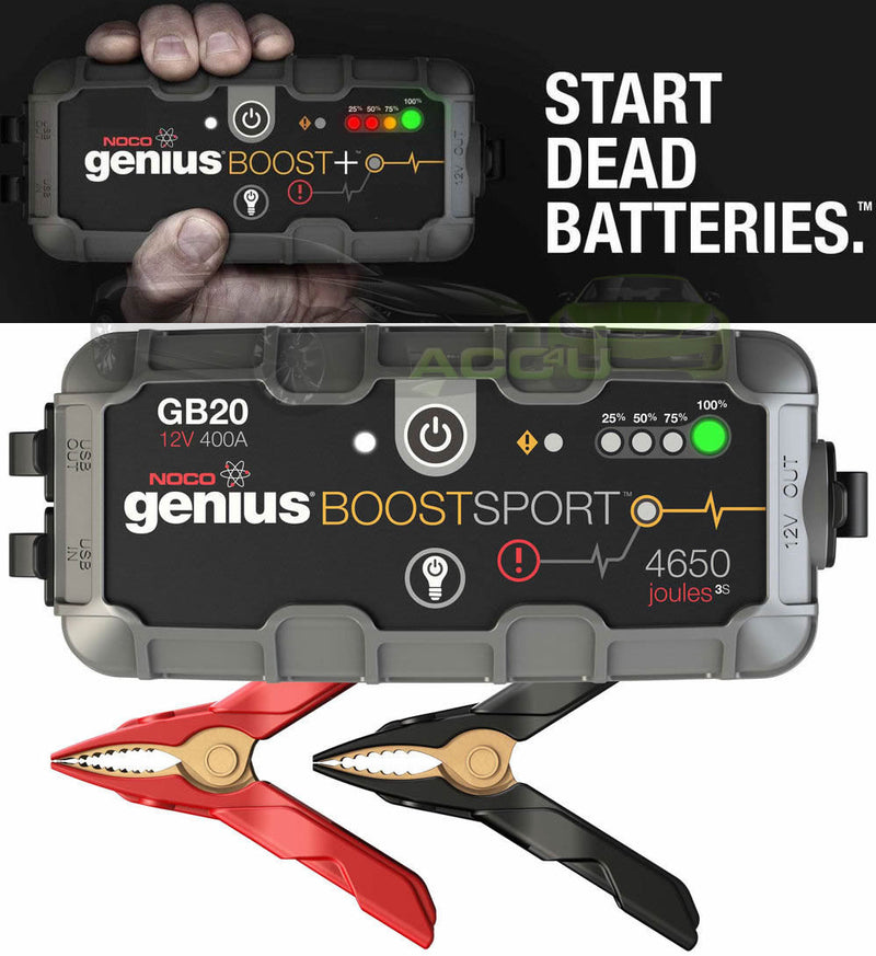 NOCO Genius GB20 Boost 12v 400A Lithium Car Battery Jump Starter Power Pack Bank