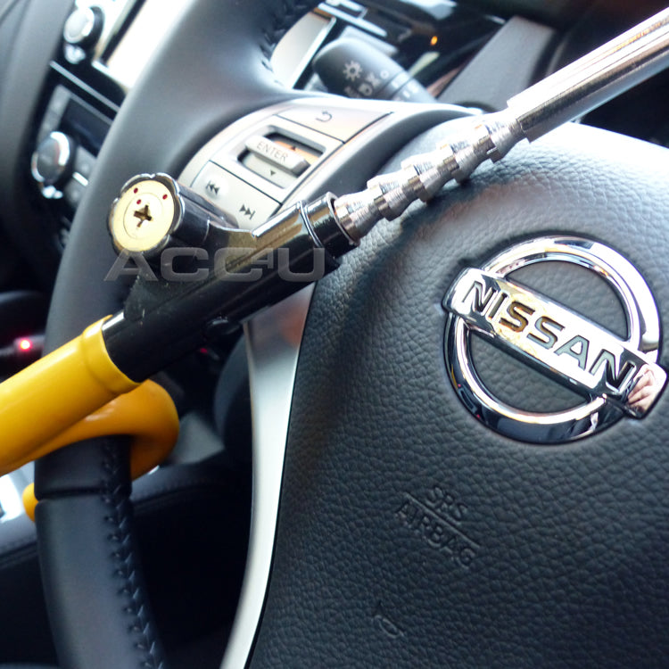 For Nissan Qashqai Car Anti Theft High Security Yellow Steering Wheel Lock