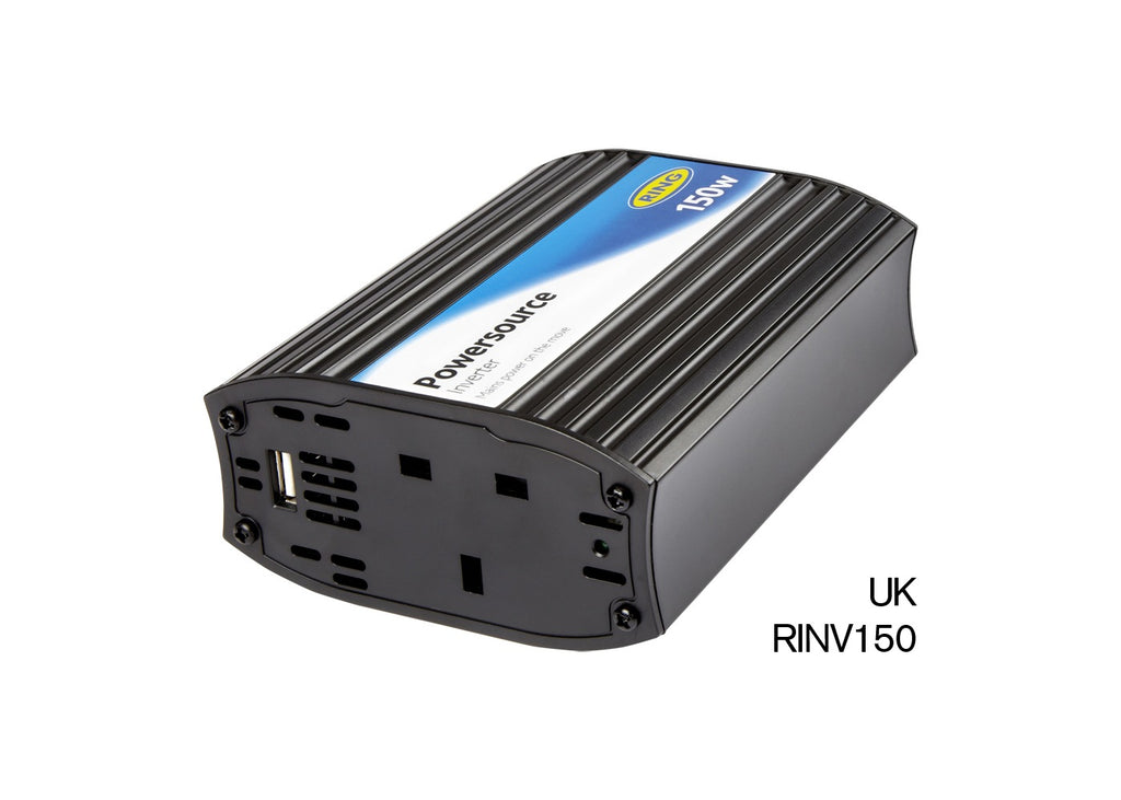 Ring RINVU150 12v Car to 230v Home Mains Socket 150w Compact Power Inverter