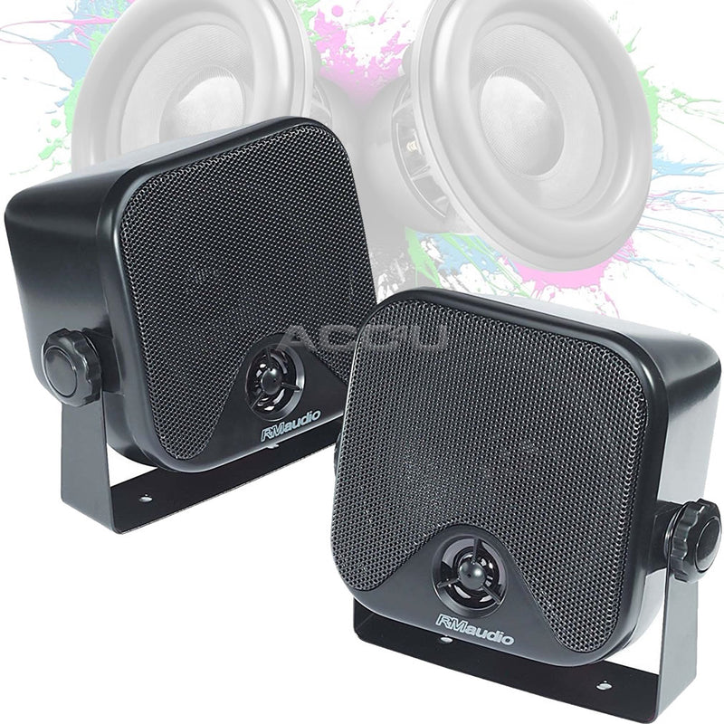Radiomobile Car Caravan Home Motorhome Wall Shelf Mount Pod Speakers With Brackets