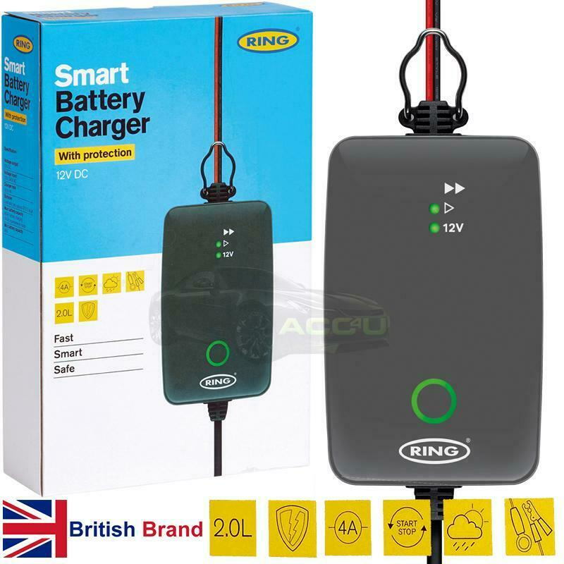 Ring RSC704 12v 4A Start/Stop Car Automatic Smart Battery Charger & Maintainer