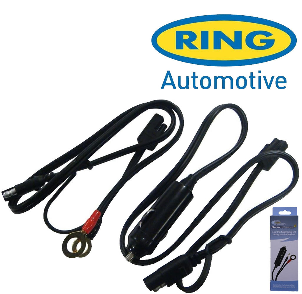Ring SmartCharge+ RSCL 12v In Car DC Charging Plug & Battery Terminal Leads Set