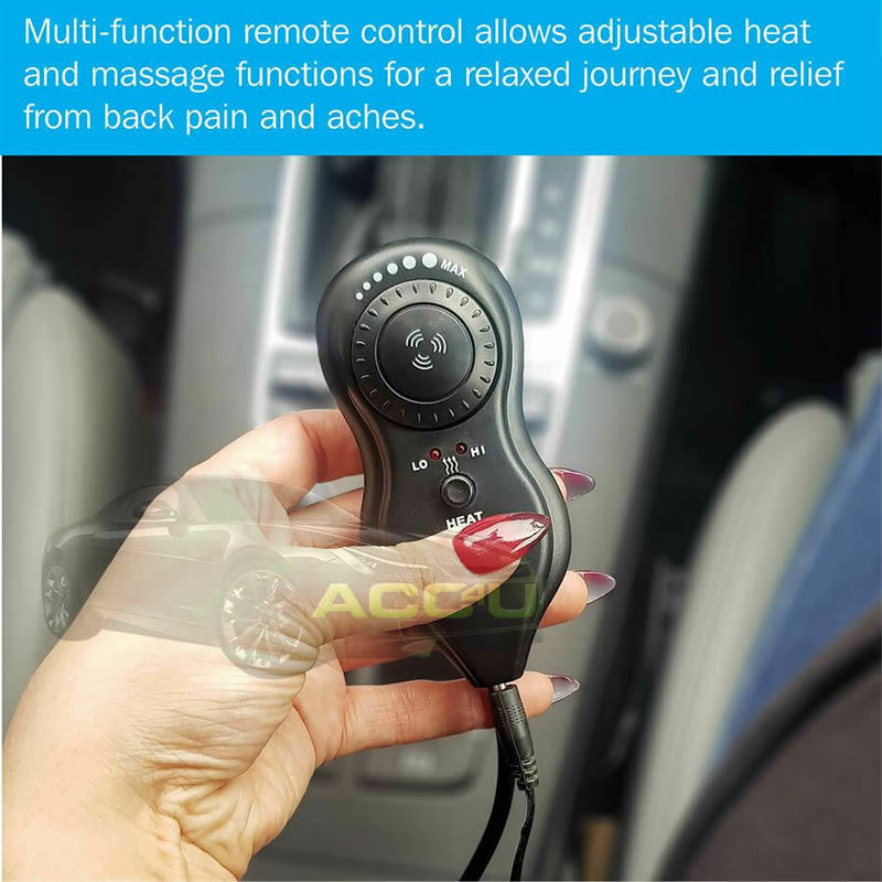 12v Car Seat Heated Massaging Pulsating Massage Lumbar Back Support Single Cushion