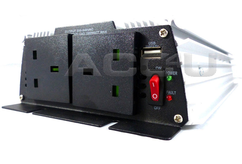 12v Car Battery to 230v Home Mains Socket USB 3000w Peak Power Inverter SWINV1500