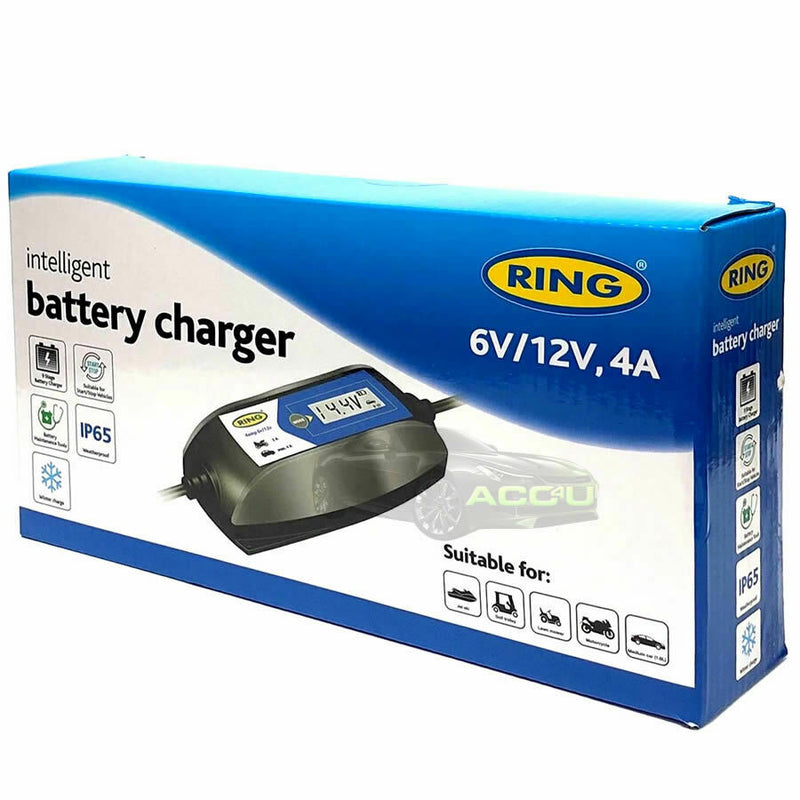 Ring RSC404 6v 12v 4A Digital Intelligent Smart Car Motorbike Battery Charger