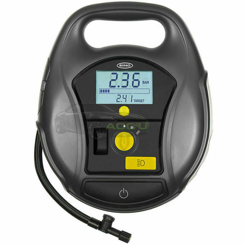 Ring RTC5000 12v Rapid Digital Car Tyre Air Compressor Inflator & Air Beds Pump