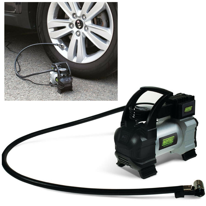 Maypole MP7952 12v Car 4x4 Tyre Rapid Metal Air Compressor Inflator Pump