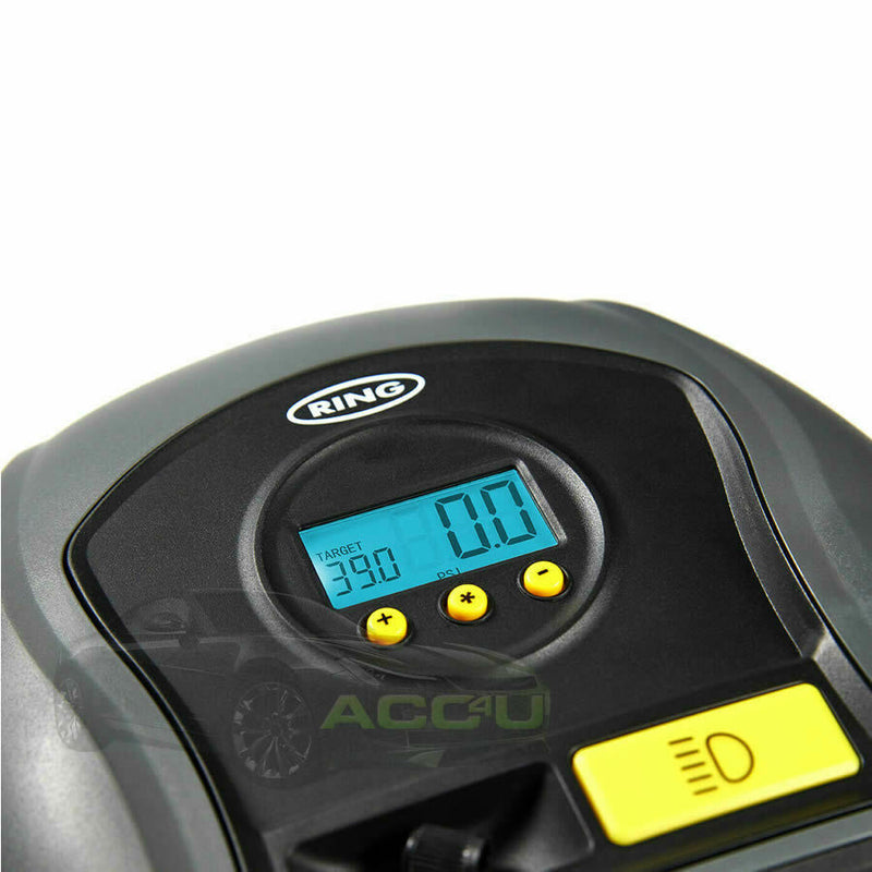 Ring RTC500 12v Digital Auto Stop Car Van Bike Tyre Air Compressor Inflator Pump