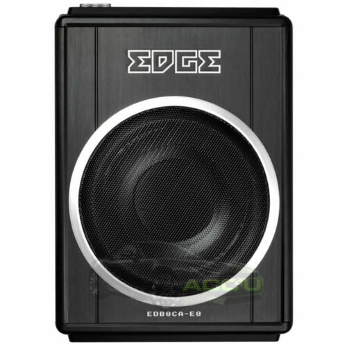 Edge EDB8CA-E8 Car Underseat Slim Active Amplified Subwoofer Bass Box Enclosure