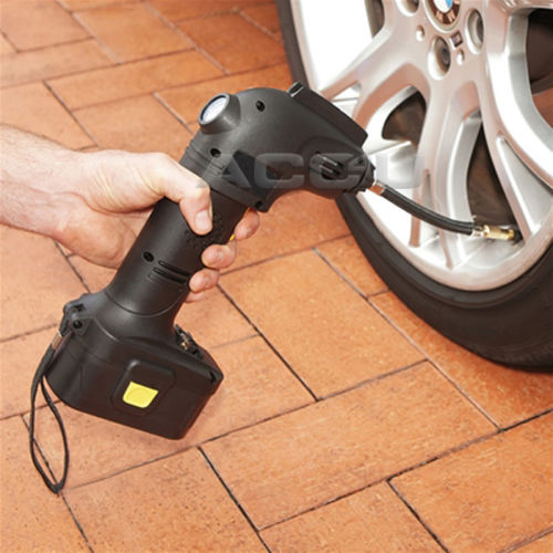 12v Cordless Rechargeable Car Tyre Air Compressor Ball Air bed Inflator Pump SWAC20