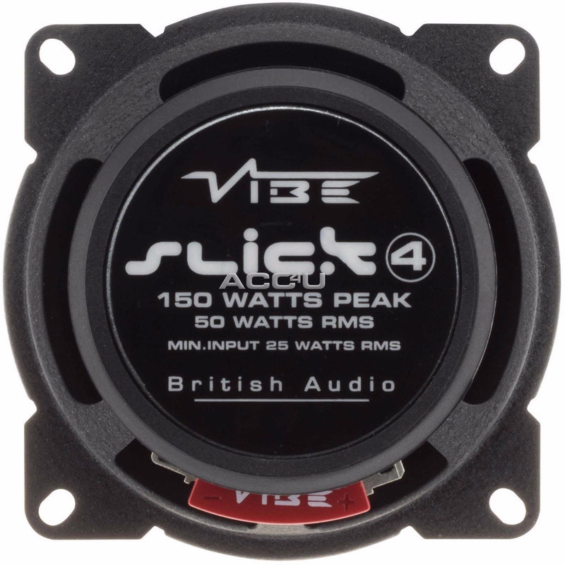 "Vibe SLICK4 V7 Slick Series 2 4"" 100mm 300w Car Door Shelf Coaxial Speakers Set"
