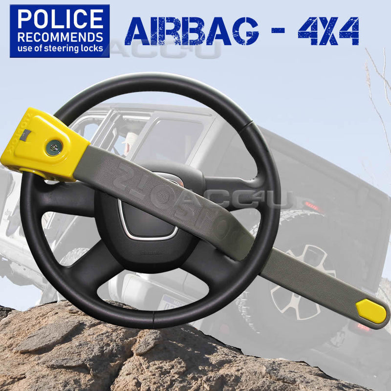 Stoplock Car Van 4x4 & AIRBAG Compatible Anti Theft High Security Steering Wheel Lock