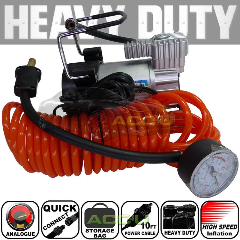 12v 150 PSI 5m Air Hose Heavy Duty Car Tyre Air Compressor Inflator Pump SWAC14