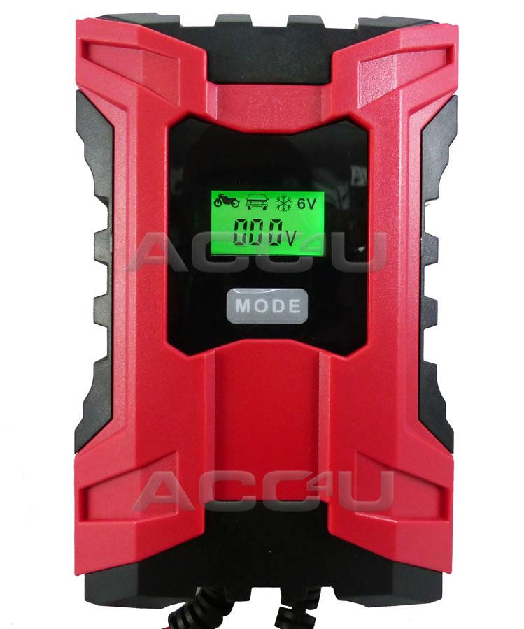 6v / 12v 6A Car Van Bike 7 Stage Intelligent Automatic Smart Battery Charger