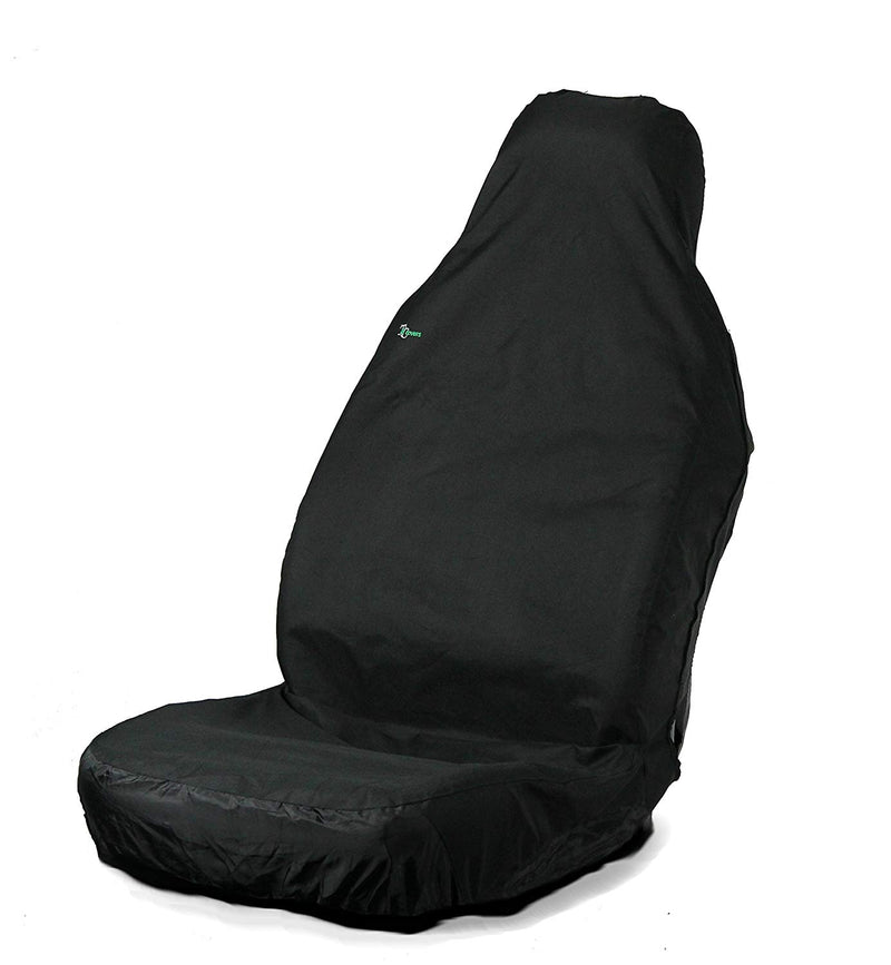 Town & Country Waterproof 3D Stretch BLACK Car Front Single Seat Cover Protector