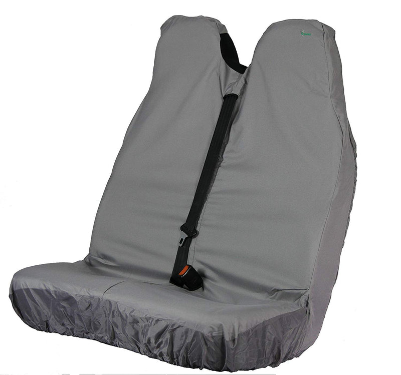 Town & Country Heavy Duty Waterproof GREY 3D Van Double Seat Only Seat Cover Protector