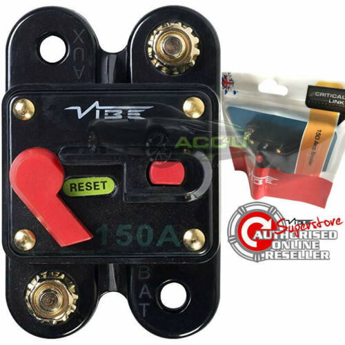 Vibe Audio 12v 150 Amps Car Amp Amplifier Power System Protection Circuit Breaker