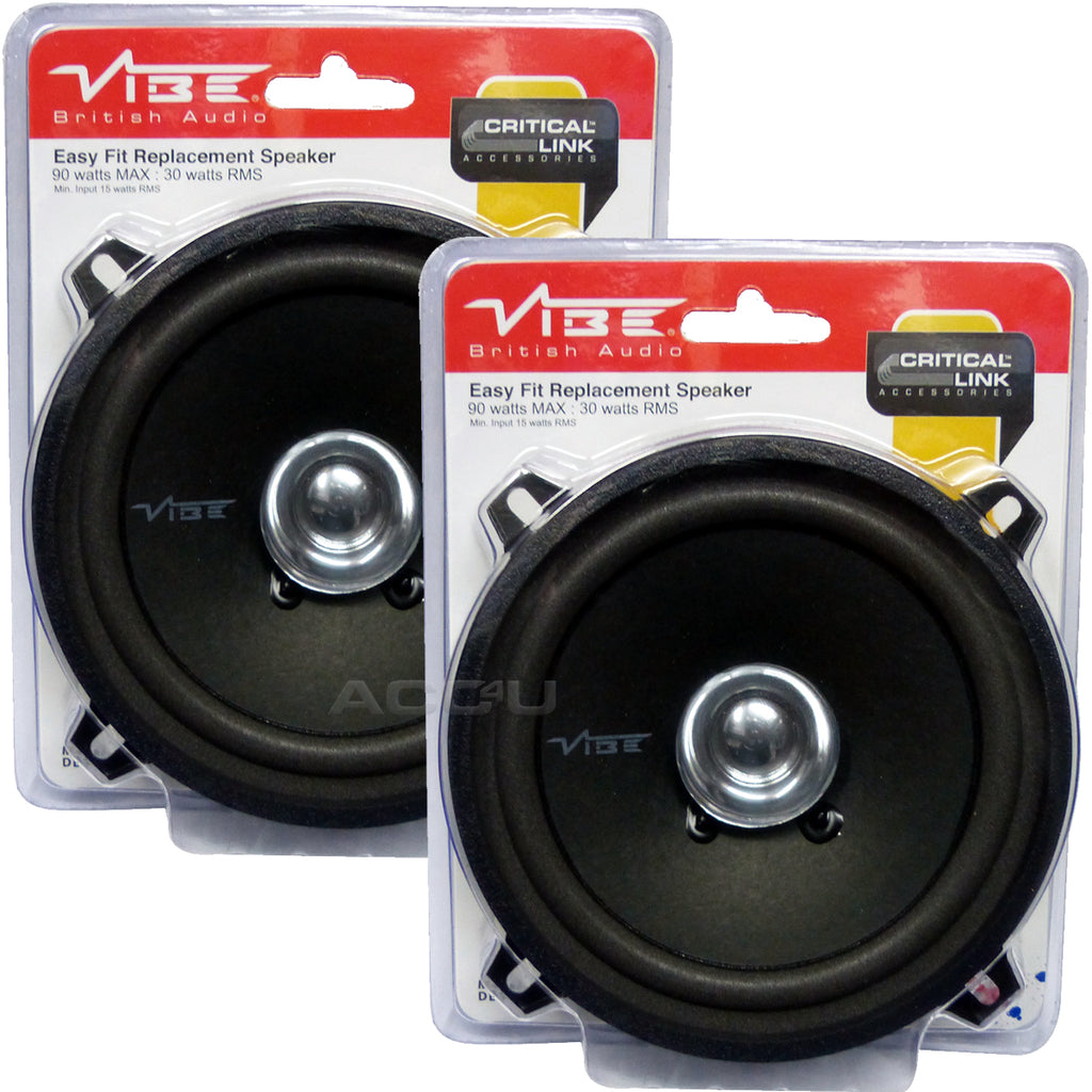 "Vibe DB5 High Performance 5.25"" inch Car Door Dashboard Coaxial Replacement Speakers Set"