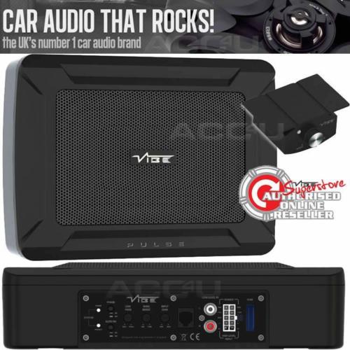 Vibe PULSE C8 Car Underseat Slim Active Amplified Subwoofer Sub Bass Box Enclosure