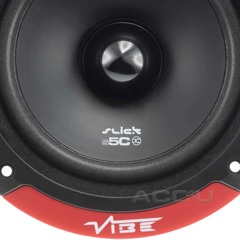 "Vibe SLICK5C V7 Slick 5C 5 Comp 5.25"" inch 480w Car Door Component Speakers System Set"