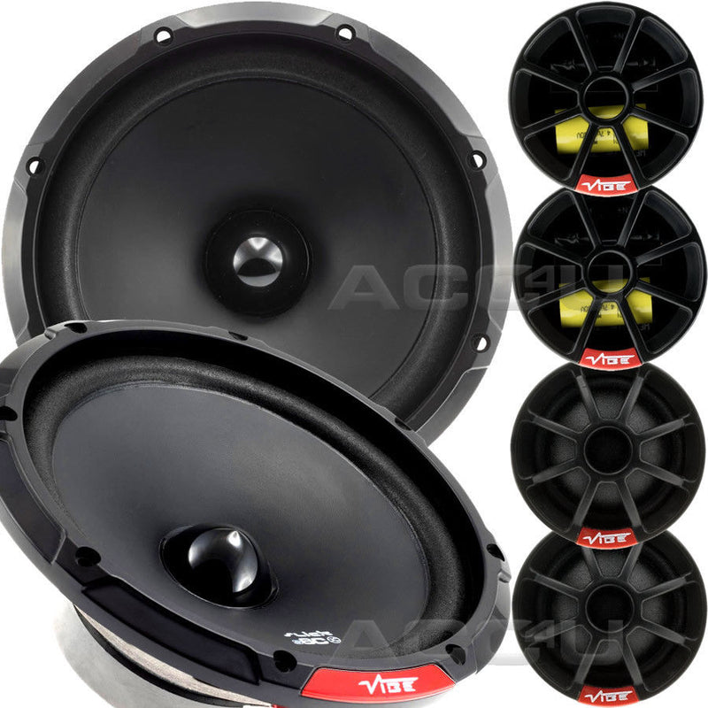 "Vibe SLICK6C V7 Slick 6C 6 Comp 6.5"" inch 540w Car Door Component Speakers System Set"