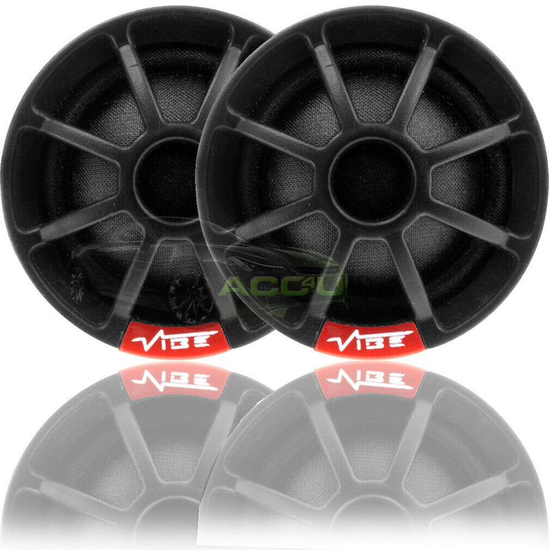 Vibe Audio SLICK1 V7 150w Car Door Silk Dome Tweeters & Inline Passive Crossovers Set