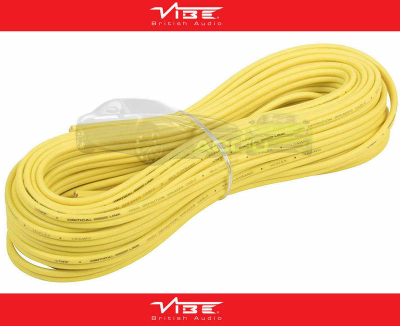 Vibe Audio Critical Link 10 Meter 16AWG 16 Gauge High Definition Speaker Wire Cable