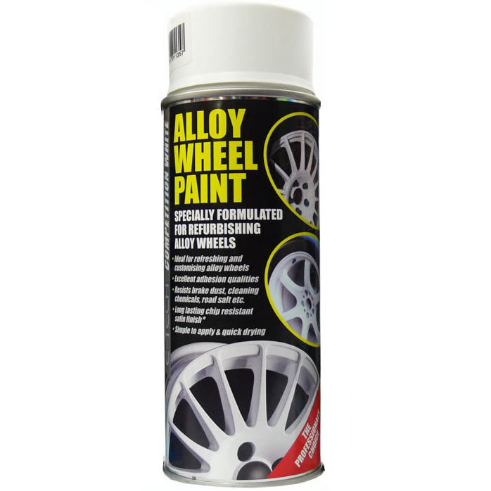 E-Tech COMPETITION WHITE Car Alloy Wheel Wheels Refurbishment Spray Paint Can