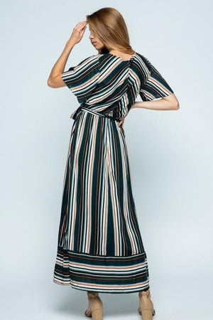 Adele Striped Maxi Dress