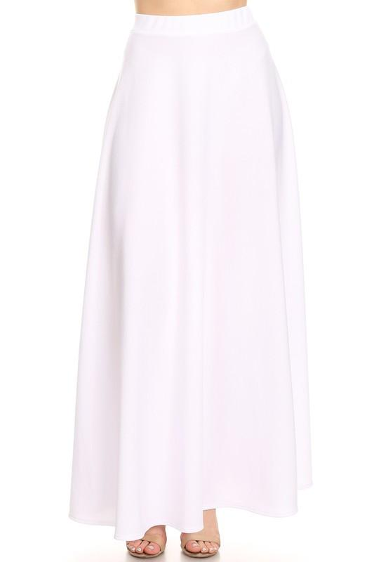 White Maxi Ball Gown