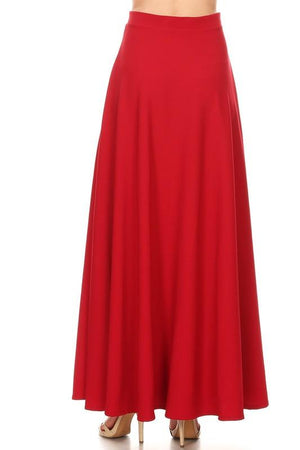 Cherry Red Maxi Ball Gown