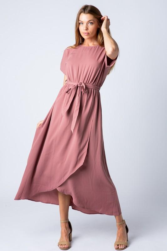 Endless Love Chiffon Maxi Dress (Mauve)