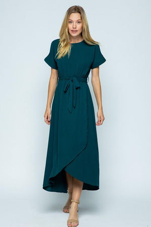 Endless Love Chiffon Maxi Dress (Teal)