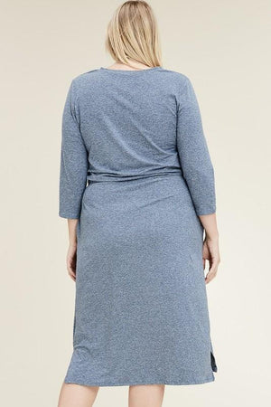 3/4 Two-tone Lounge Dress (Blue)